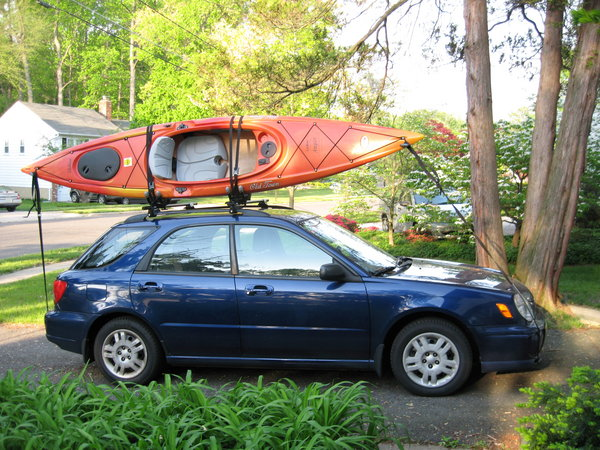 Kayak on Subaru Impreza